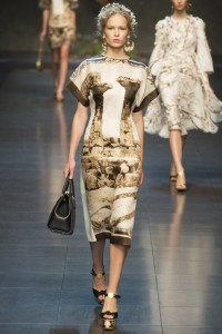 Dolce & Gabanna camel dress